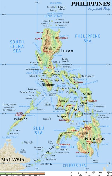 フィリピン:Detailed map of the Philippines (click to ...