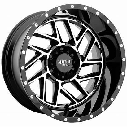 Moto Metal Face Machined Mo985 Gloss Wheels