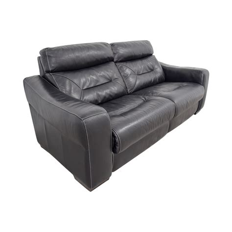 54 Off Macys Macys Black Leather Recliner Sofa Chairs