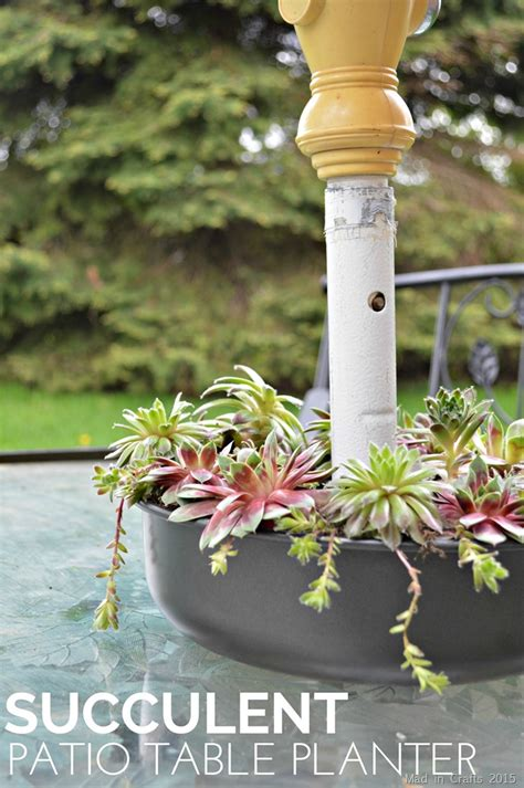succulent patio table planter mad  crafts