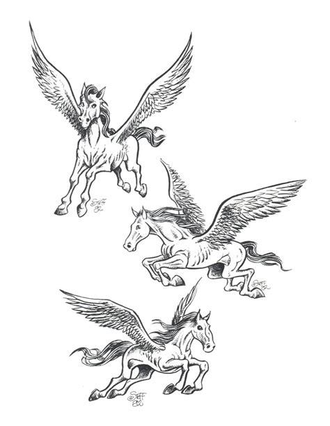 famous pegasus tattoo designs