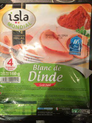 cuisiner blanc de dinde blanc de dinde isla mondial 160 g