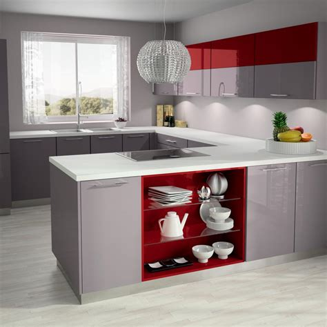 cuisine beige ilot album media hold up kitchen design rangement