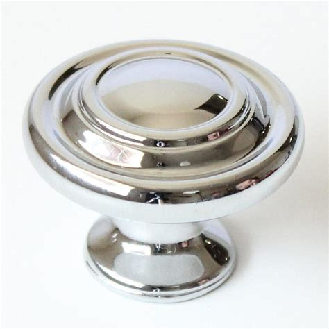 round chrome cabinet knobs shop rusticware traditional chrome round cabinet knob at