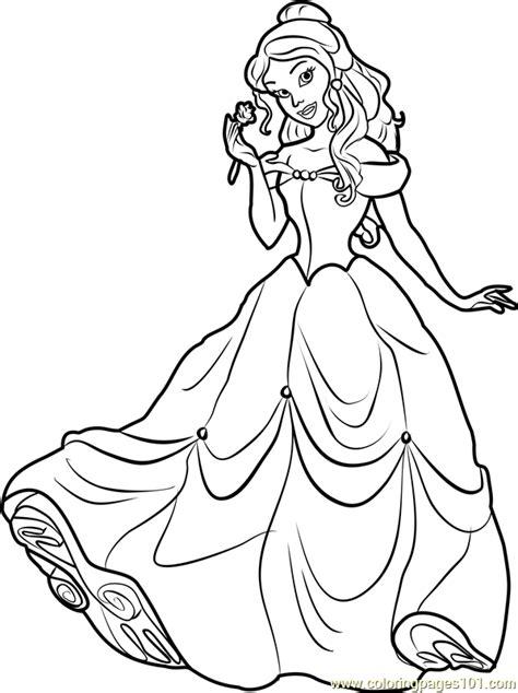 princess belle coloring page  disney princesses coloring pages coloringpagescom