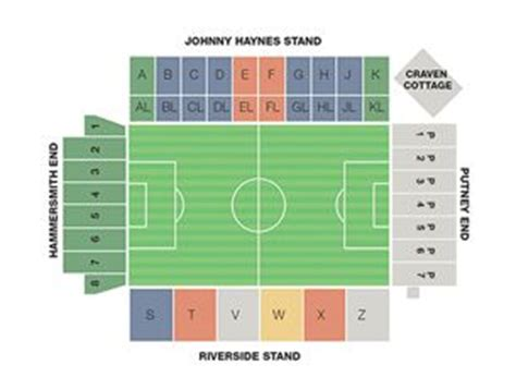 craven cottage seating plan fulham
