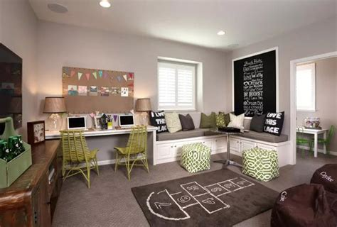 shared desk ideas kids rooms  study space designs