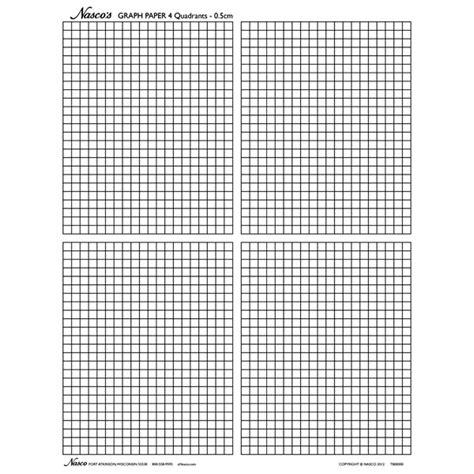1st quadrant grid nasco s graph paper 1 2 cm squares and 4 quadrants
