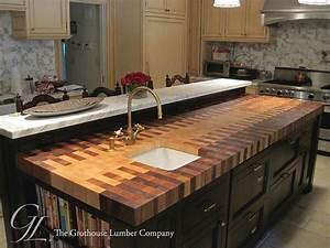 Butcher Block Countertop with an Interlocked Pattern