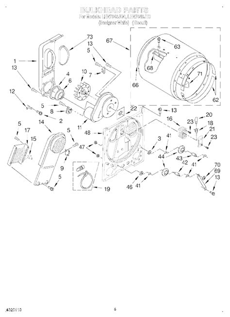 whirlpool ler7646jq0 dryer parts and accessories at partswarehouse