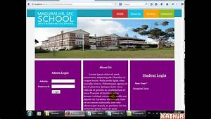 School management system php mysql css youtube for How to create template in php