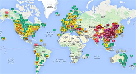 carte interactive surveillez la pollution de l air en temps r 233 el partout dans le monde
