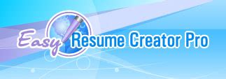 Easy Resume Creator Pro by Your Free Trial Resume Writing Software With