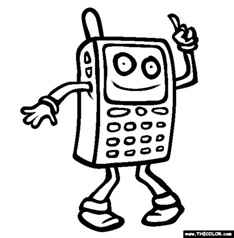 Coloring Mobil by Coloring Pages Of Cell Phones Coloring Home