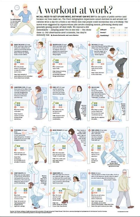 Office Desk Exercises by 32 Best Work Exercises Images On Office