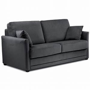 petit canape convertible opera meubles et atmosphere With canapé convertible couchage quotidien avec tapis rond jaune