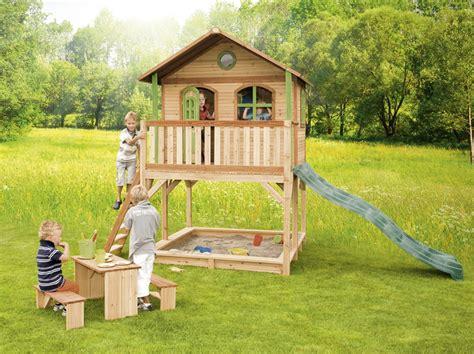 kinderspielhaus mit sandkasten holz kinderspielhaus auf stelzen sandkasten garten 173x113cm haus innenma 223 kaufen im holz haus
