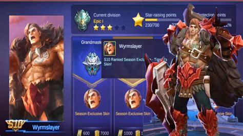 Rewards Season 10 Skin Tigreal Wyrmslayer, Rewards S10