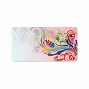 colourful shipping address return address labels zazzle With cool mailing labels