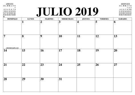 calendario julio el calendario julio