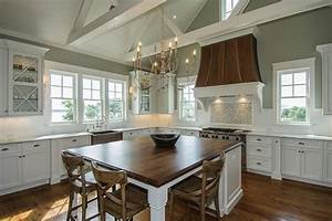 dark walnut countertops transitional kitchen With kitchen colors with white cabinets with iron pumpkin candle holder