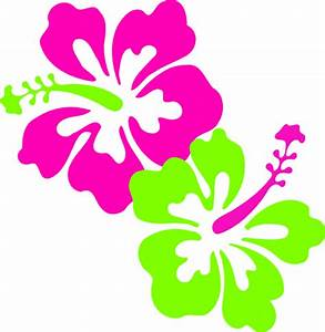 Hibiscus Pink Lime Green Clip Art at Clker.com - vector ...