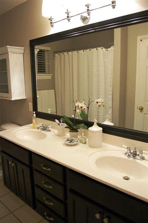 design gal  handyman bathroom mirror frame