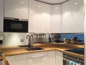 credence miroir sur mesure pour votre cuisine With credence en miroir pour cuisine