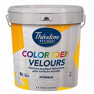 color idem velours 15l peinture acrylique decorative With peinture acrylique pour mur
