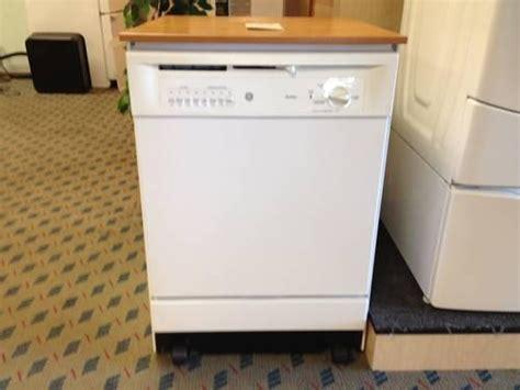 ge white oak portable dishwasher nice   sale  tacoma washington classified