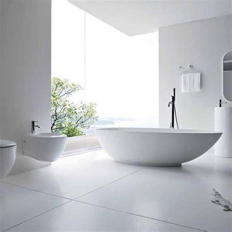 Carrelage Sol Salle De Bain Blanc Carrelage Sol Mur Blanc Mat 60x120 Ou 100x100 Cm Niloka