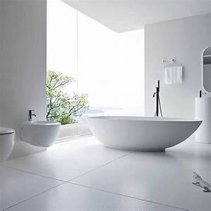Carrelage Blanc Mat : carrelage sol mur blanc mat 60x120 ou 100x100 cm niloka ~ Melissatoandfro.com Idées de Décoration