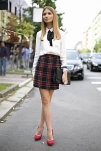 How To Style Tartan Skirts   WardrobeLooks.com