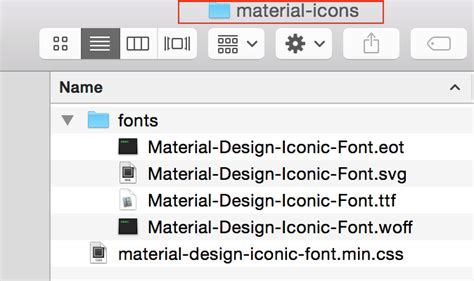 material design iconic font  vectorifiedcom