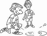 Coloring Marble Playing Kicking Friend Boy Cool Designlooter Boys Friends Wecoloringpage sketch template