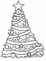 Coloring Tree Christmas Printable Pages sketch template