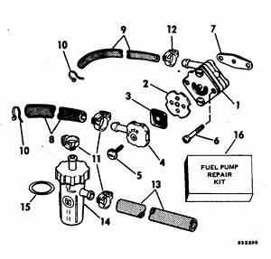 Evinrude Fuel Pump Parts For 1983 15hp E15rcta Outboard Motor