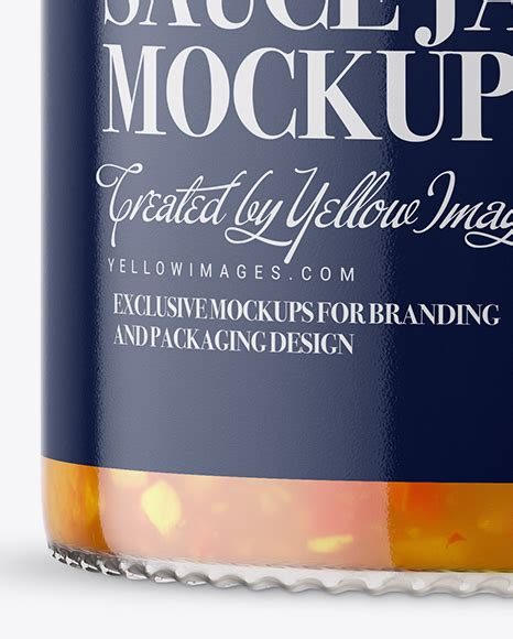 I'm happy to share realistic glass jar mockup psd. Clear Glass Jar with Sweet & Sour Sauce Mockup in Jar ...