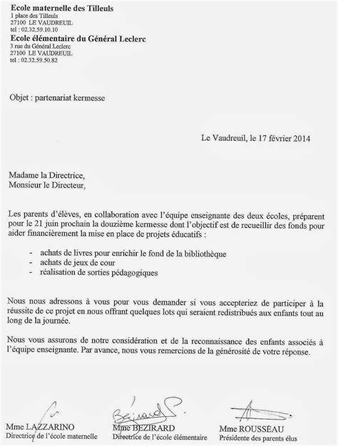 modèle lettre de partenariat commercial kermesses des 233 coles maternelle des tilleuls et primaire