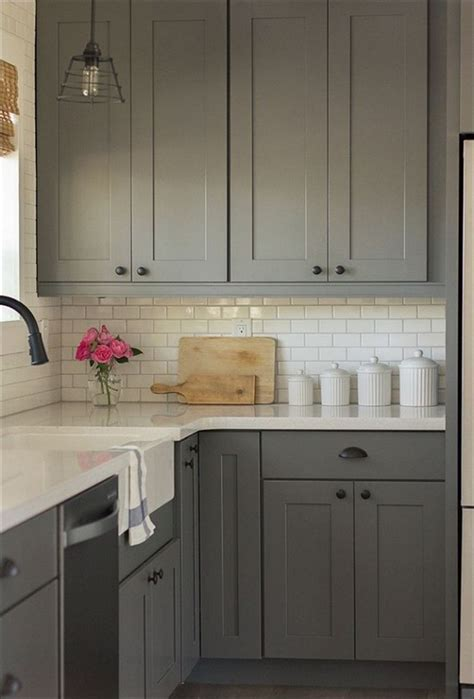gray painted kitchen cabinets colors