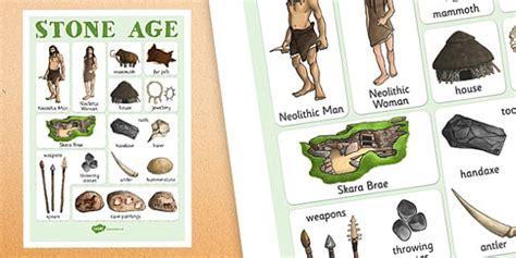 stone age vocabulary mat teacher