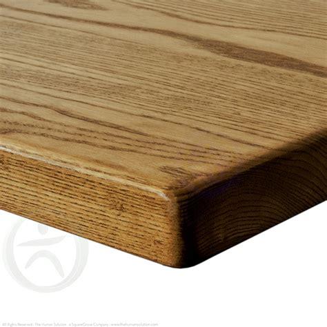 natural wood desk top uplift desk dark stained ash solid wood desktop