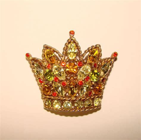 fabulous regency signed vintage crown design colored