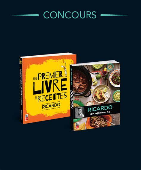 livre de cuisine ricardo gagnez un duo de livres ricardo véronique cloutier