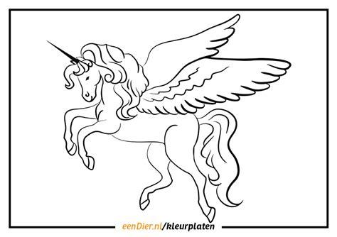Kleurplaat Moeilijk Unicorn by Eenhoorn Kleurplaat