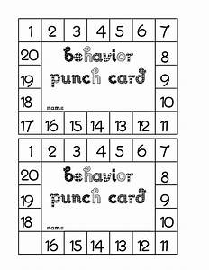 classroom freebies behavior punch card With free printable punch card template