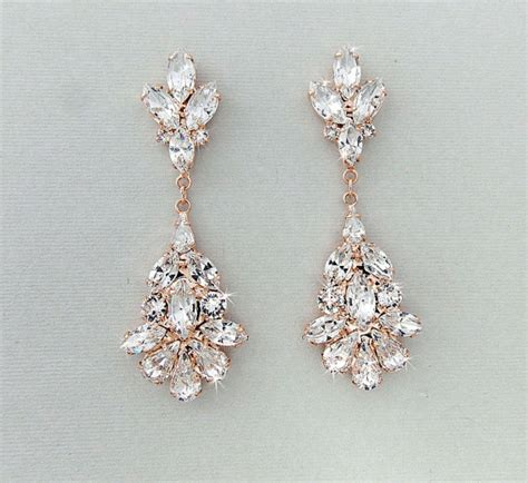 wedding earrings chandelier bridal earrings gold