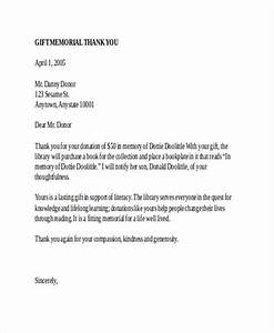 in memory donation acknowledgement letter docoments ojazlink With thank you letter for funeral