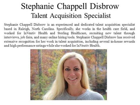 Talent Acquisition Specialist Questions by Chappell Disbrow Talent Acquisition Specialist