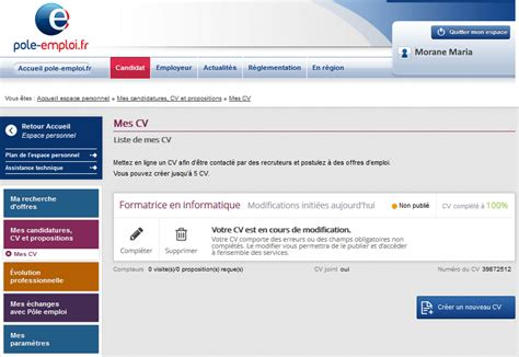r 233 diger un cv en ligne sur p 244 le emploi coursinfo fr